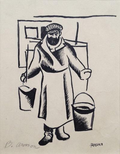 "<p>Boris Aronson, <i>Tevye the Milkman</i>, n.d. Woodcut on paper, via&nbsp;<a href=""https://www.europeana.eu/en/item/2064113/search_result_php_item_id_1321"">Europeana</a>.</p>"