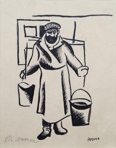 "<p>Boris Aronson, <i>Tevye the Milkman</i>, n.d. Woodcut on paper, via <a href=""https://www.europeana.eu/en/item/2064113/search_result_php_item_id_1321"">Europeana</a>.</p>"