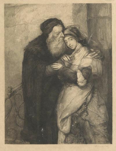 "<p>Maurycy Gottlieb, Shylock i Jessyka (1913) via <a href=""https://www.europeana.eu/en/item/094041/_nnmpdxr?l%5Br%5D=1&l%5Bt%5D=34&utm_source=old-website&utm_medium=button"">Europeana</a></p>"
