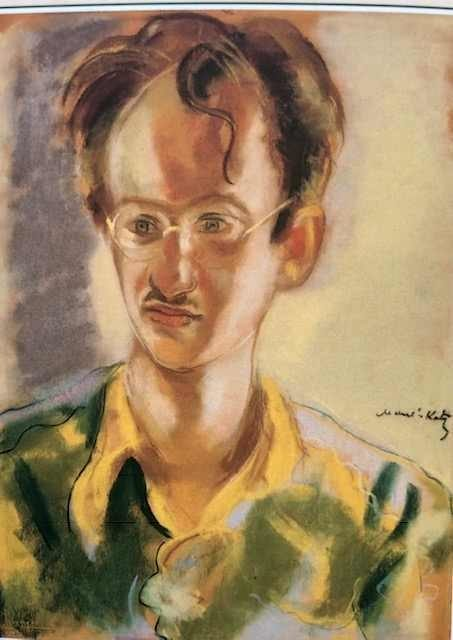 <p>Portrait of Abraham Sutzkever by Emmanuel Mane-Katz,&nbsp;1969.</p>