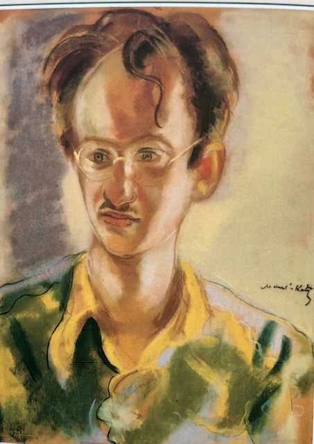 "<p>Portrait of Abraham Sutzkever by Emmanuel Mane-Katz,&nbsp;<span class=""numbers"">1969</span>.</p>"