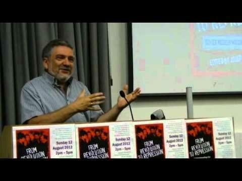 <p>Gennady Estraikh speaking at the School of Oriental and African Studies in&nbsp;London</p>