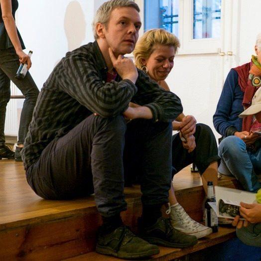 <p>Arndt Beck and Ella Ponizovsky-Bergelson. Photo: Tanja Katharina&nbsp;Lindner.</p>