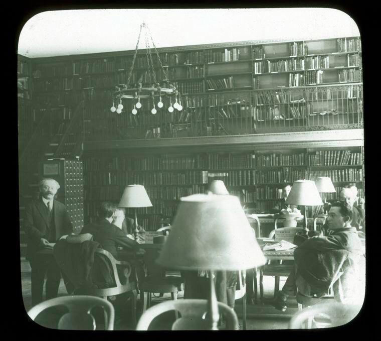 """<p>The Jewish Division, Room <span class=""""numbers"""">217</span>&nbsp;in the Main Library of The New York Public Library (<span class=""""numbers"""">42</span><sup class=""""ordinal"""">nd</sup> Street and Fifth Avenue). Source: The New York Public&nbsp;Library.</p>"""