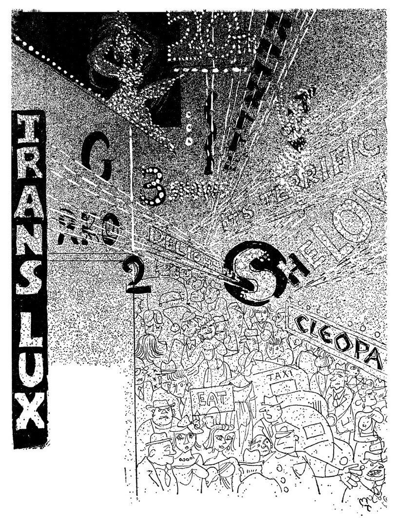 "<p>Illustration by Yoysef Foshko from Leyeles's <em>Amerike un ikh </em>(<span class=""numbers"">1963</span>)</p>"