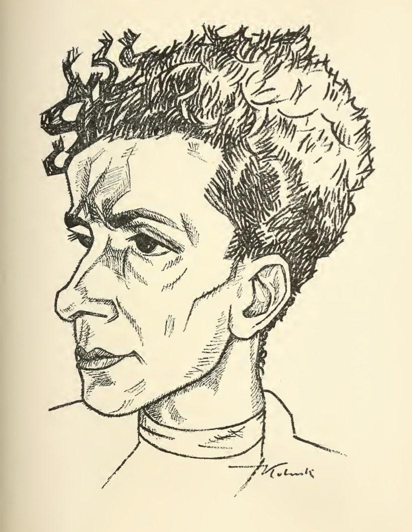 <p>Portrait of Itzik Manger by Artur&nbsp;Kolnik.</p>