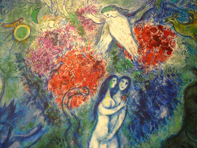 """<table><tbody><tr><td>Chagall, Marc, <span class=""""numbers"""">1887</span>–<span class=""""numbers"""">1985</span>. Adam and Eve, from Art in the Christian Tradition, a&nbsp;project of the Vanderbilt Divinity Library, Nashville, <span class=""""caps"""">TN</span>.<a href=""""http://diglib.library.vanderbilt.edu/act-imagelink.pl?RC=54653"""">http://diglib.library.vanderbilt.edu/act-imagelink.pl?RC=<span class=""""numbers"""">54653</span></a> [retrieved December <span class=""""numbers"""">25</span>,&nbsp;<span class=""""numbers"""">2018</span>].</td></tr></tbody></table>"""