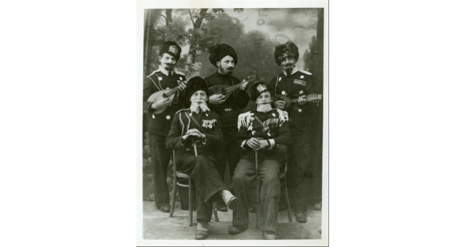 """<p>Purim-shpilers in costume, Szydłowiec, Poland, <span class=""""numbers"""">1937</span>. (<span class=""""caps"""">YIVO</span>)</p>"""