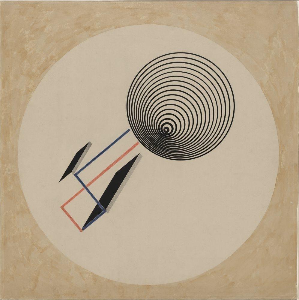 "<p>El Lissitzky, <em>Proun 93</em>, circa 1923, Stiftung Moritzburg Kunstmuseum des Landes Sachsen-Anhalt Halle (Saale),&nbsp;<a href=""https://commons.wikimedia.org/wiki/File:Lissitzky_Proun_93.jpg"">via</a> </p>"