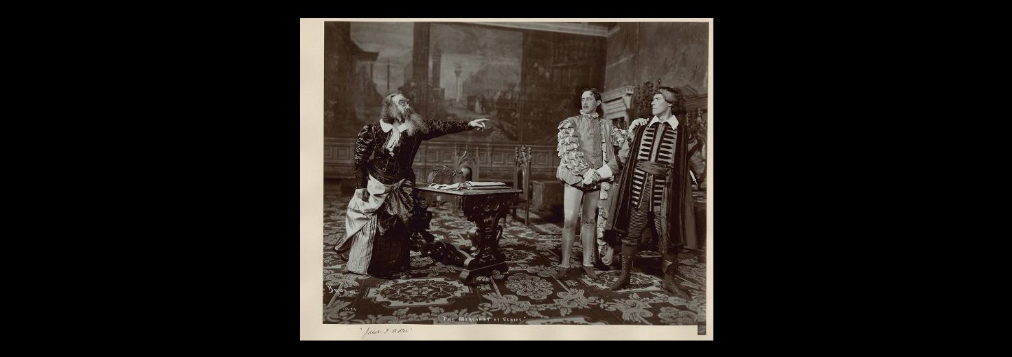 "<p>A production of <em>Merchant of Venice</em> starring Jacob P. Adler via <a href=""https://luna.folger.edu/luna/servlet/detail/FOLGERCM1~6~6~302587~123587:-A-production-of--Merchant-of-Venic?qvq=q%3Ashylock%3Bsort%3AMPSORTORDER1%2CCall_Number%2CCD_Title%2CImprint%3Blc%3AFOLGERCM1%7E6%7E6&amp;cic=FOLGERCM1%7E6%7E6&amp;sort=MPSORTORDER1%2CCall_Number%2CCD_Title%2CImprint&amp;mi=85&amp;trs=198"">Folger Shakespeare&nbsp;Library</a></p>"
