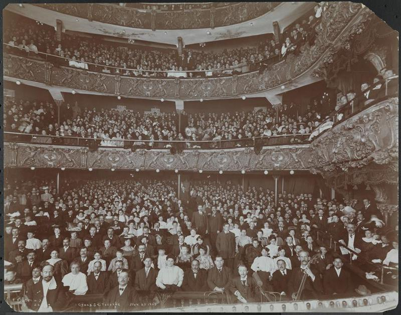 "<p>The Grand Street Theater, one of the first New York City theaters devoted exclusively to Yiddish plays. via <a href=""http://www.mcny.org/yiddishtheater""><span class=""caps"">MCNY</span></a></p>"