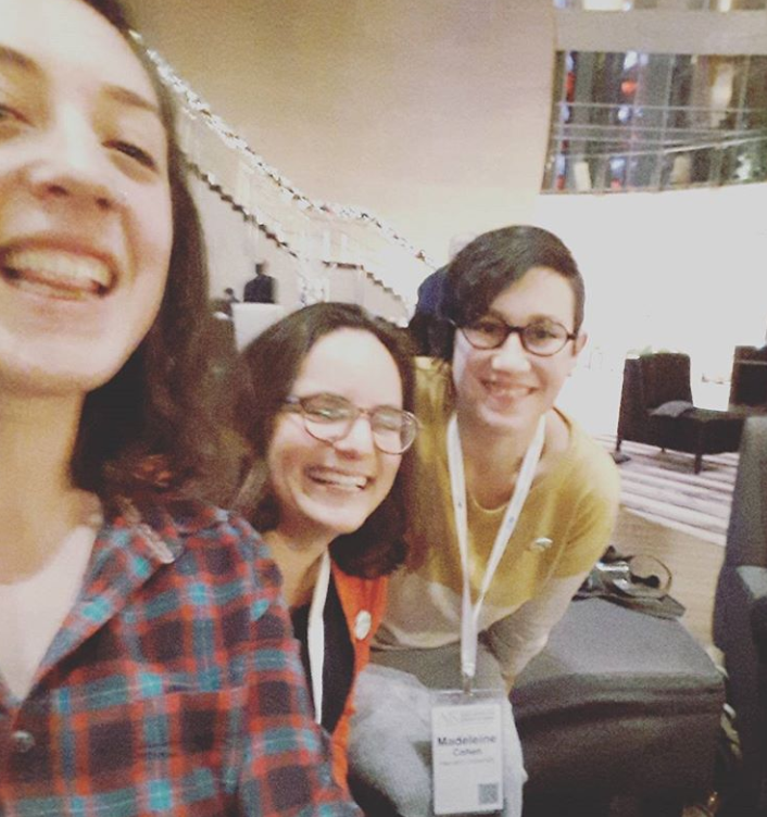 "<p>Diana Clarke (Managing Editor for the Blog), Jessica Kirzane (Editor-in-Chief) and Madeleine Cohen (Senior Editor) enjoying the <span class=""caps"">AJS</span> conference together this past December.  Follow us on Instagram (@in.geveb) for more editorial&nbsp;selfies.</p>"