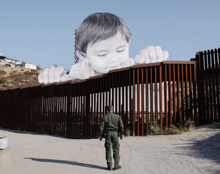 "<p>Image: Installation by the French artist <span class=""caps"">JR</span> at the U.S.-Mexican border <a href=""https://mymodernmet.com/jr-street-artist-mexican-border-wall/"">https://mymodernmet.com/jr-street-artist-mexican-b…</a></p>"