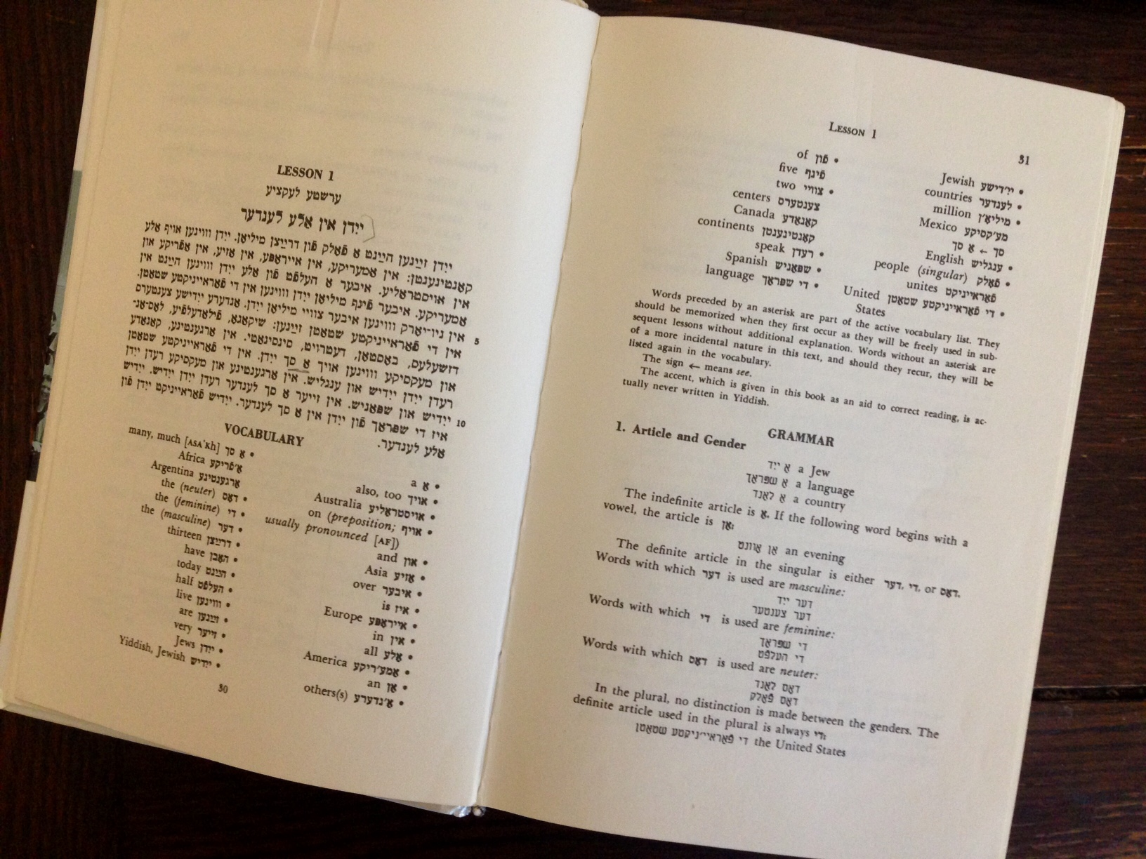 <p>The author's (Madeleine's, not Uriel's) much loved and much used copy of <em>College&nbsp;Yiddish</em></p>