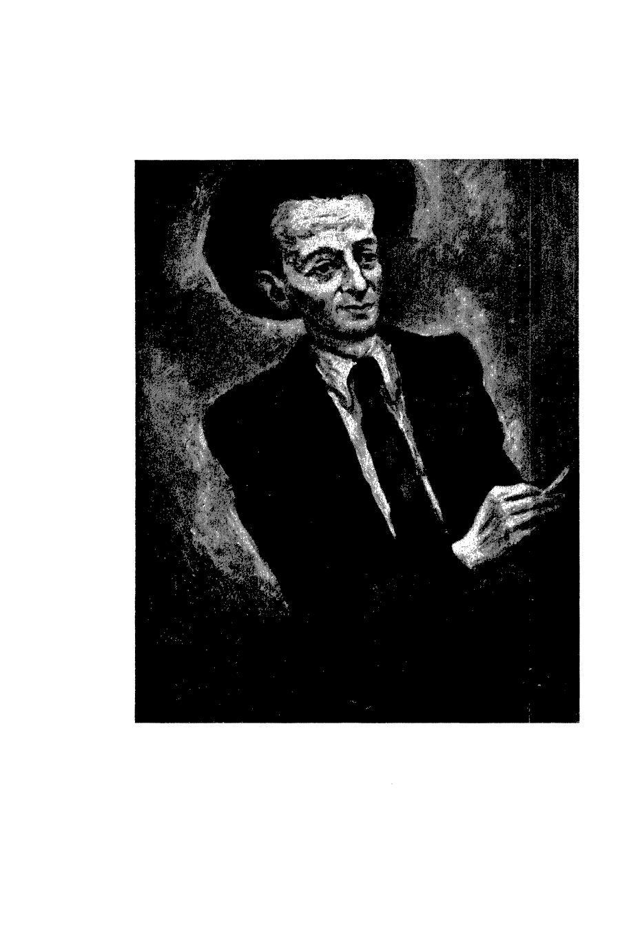 <p>Itsik Manger, portrait in <em>Noente geshtaltn un andere shriftn</em> (New York: Itsik Manger yoyvl komitet,&nbsp;1961).</p>