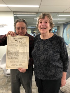 "<p>Shifra Epstein with Leo Greenabum, Acces­sions Archivist / Bund Archivist at&nbsp;<span class=""caps"">YIVO</span></p>"