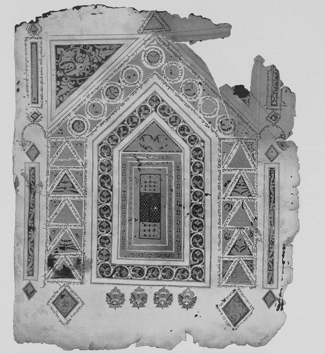 <p>Image 2: The Holy Ark from an illuminated Pentateuch of the tenth century, (<em>Milgroym</em>, 1923)</p>