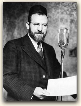 "<p>Rabbi Shmuel Aaron Rubin, whose mediation court, the Jewish American Board of Peace and Justice, was recorded and broadcast on Yiddish radio stations like <span class=""caps"">WLTH</span> and <span class=""caps"">WEVD</span>.  Via <a href=""http://www.yiddishradioproject.org"">Yiddish Radio Project</a>.</p>"