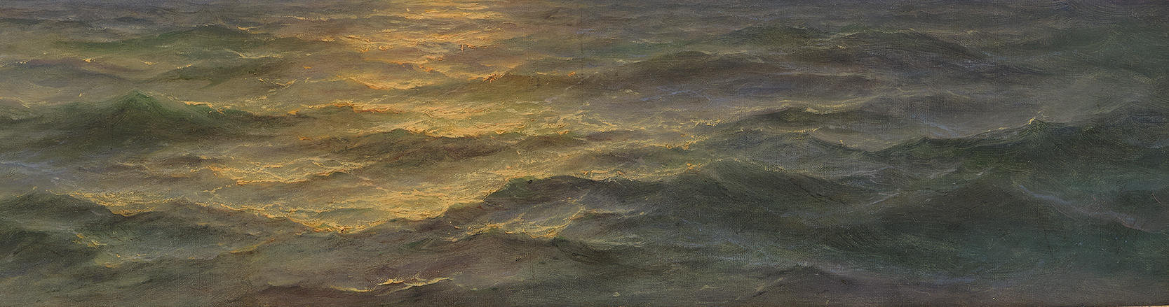<p>Melbye, <em>Seascape </em>(detail)</p>