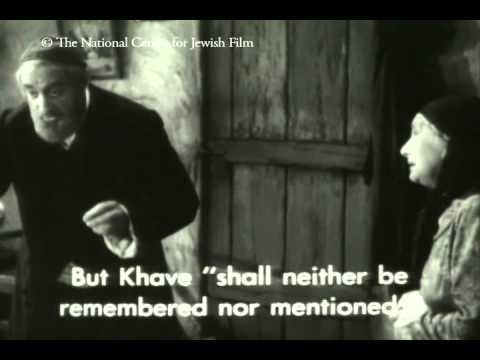 <p>Tevye, from Maurice Schwartz&#8217;s 1939 film, <em>geyt in troyer</em> after learning of Chava&#8217;s marriage to a Polish&nbsp;peasant.</p>