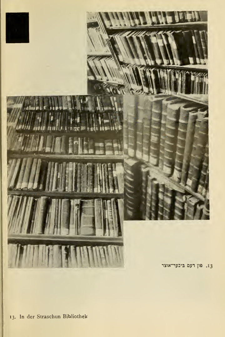 <p>Photograph of the Strashun Library in Vilna by Moshe Vorobeichic</p>
