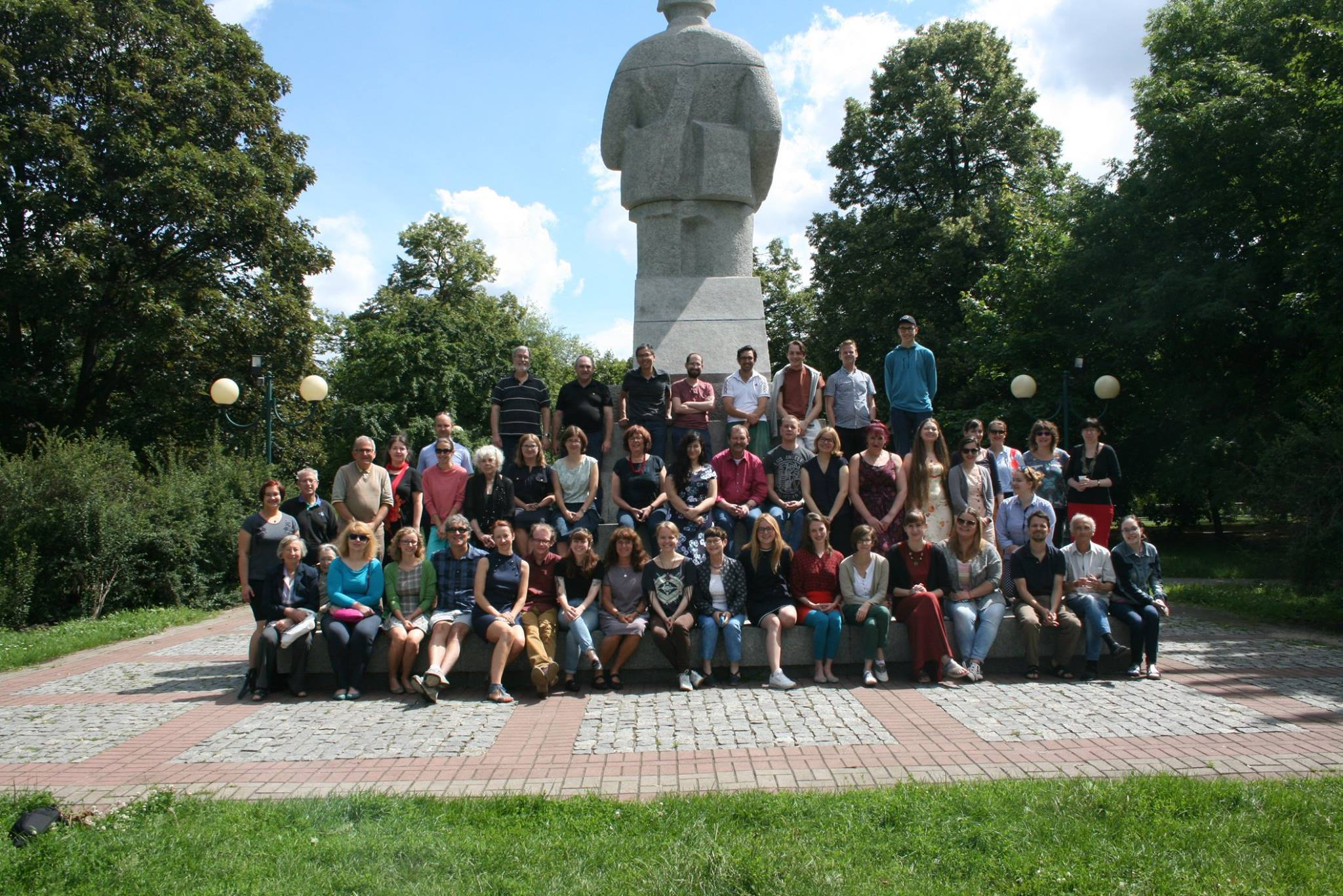 <p>Students at the International Summer Seminar in Yiddish Language and Culture (Warsaw,&nbsp;2017)</p>