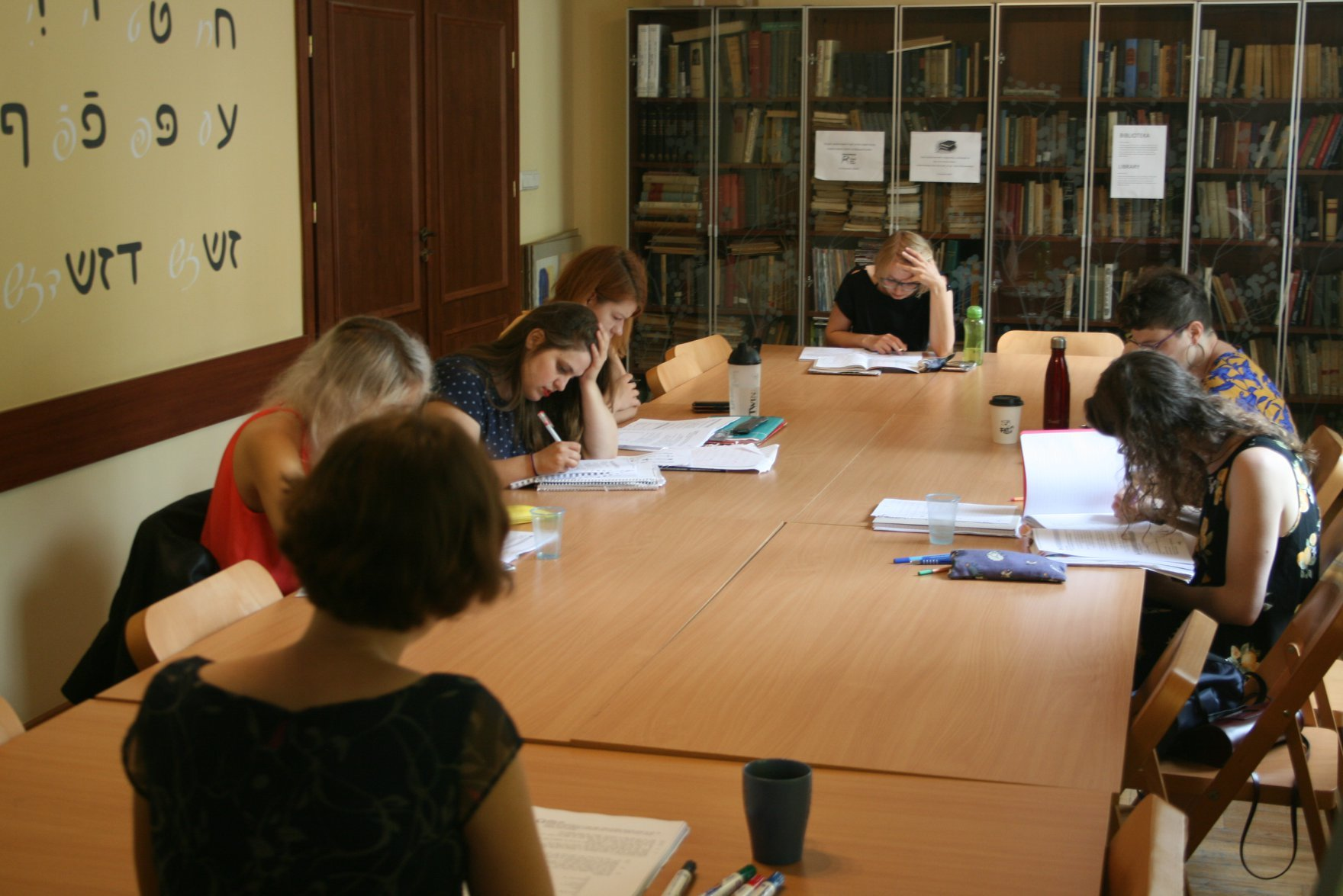 <p>Students at the International Summer Seminar in Yiddish Language and Culture (Warsaw, Poland),&nbsp;2018.</p>