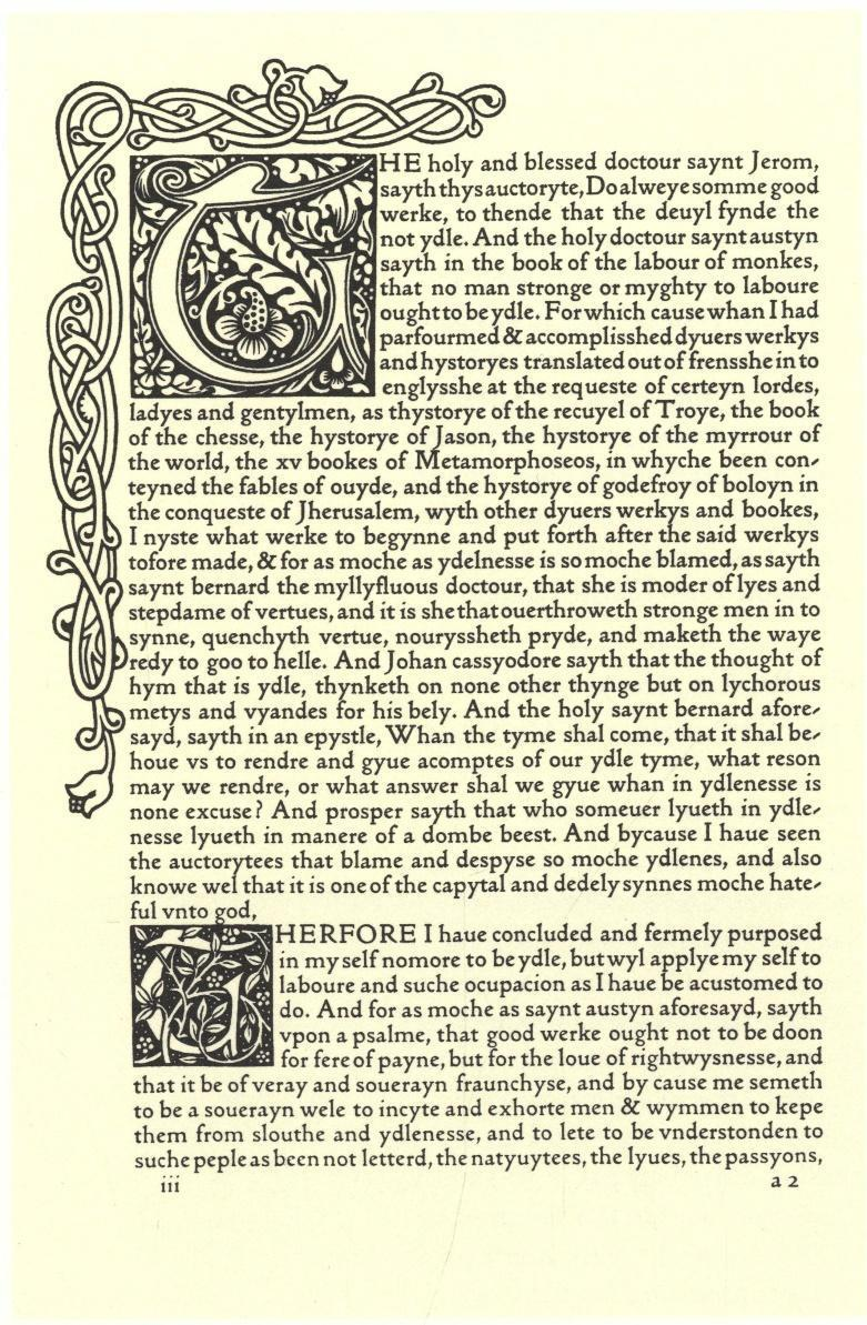 <p>Figure 10: A page from Jacobus de Voragine, <em>The Golden Legend of Master William Caxton Done Anew</em>, printed by William Morris (Hammersmith: The Kelmscott Press,&nbsp;1892).</p>