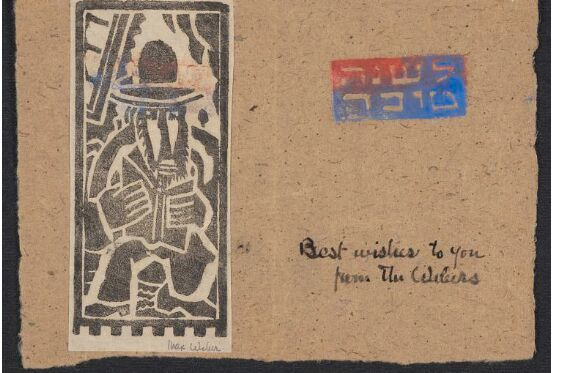 "<p>Weber's new year's greet­ing, n.d., <a href=""https://www.si.edu/object/AAADCD_item_10270"">Smith­son­ian Archives of Amer­i­can&nbsp;Art</a></p>"