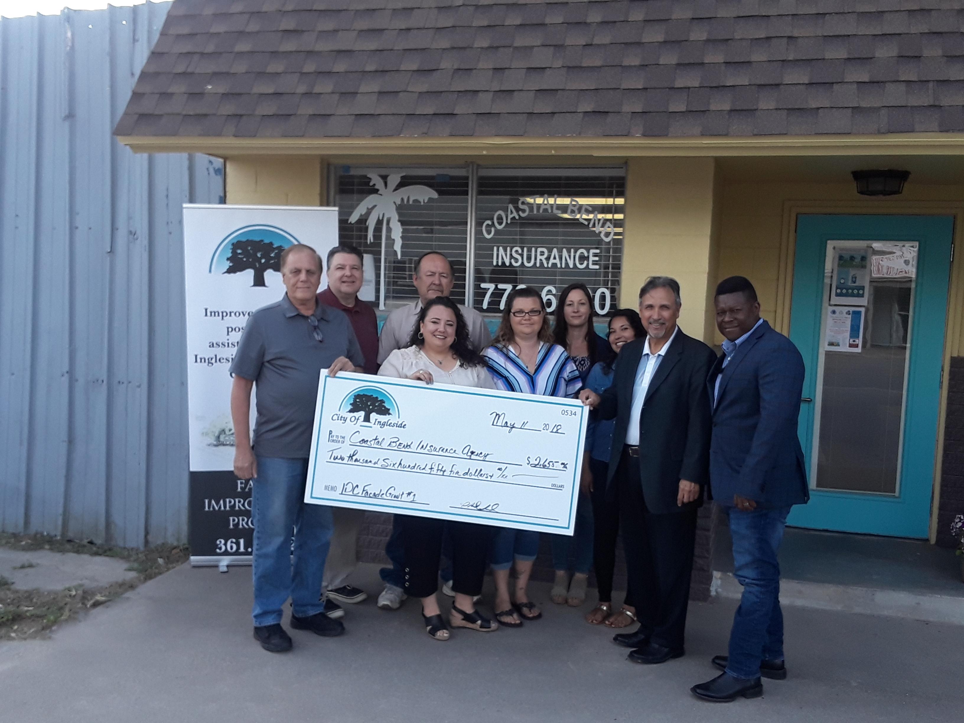 Coastal Bend Insurance receives grant