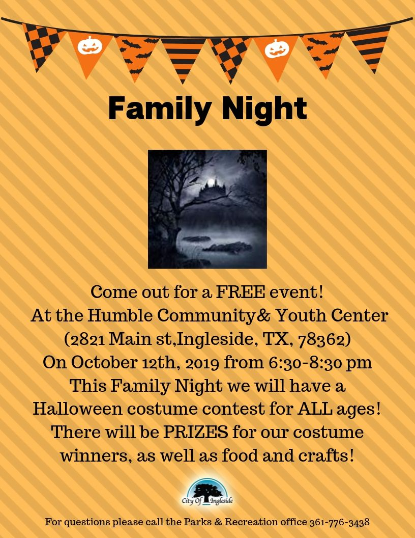 Family Night Halloween Flyer