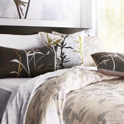 Morning Glory in Silver Duvet and Sham set