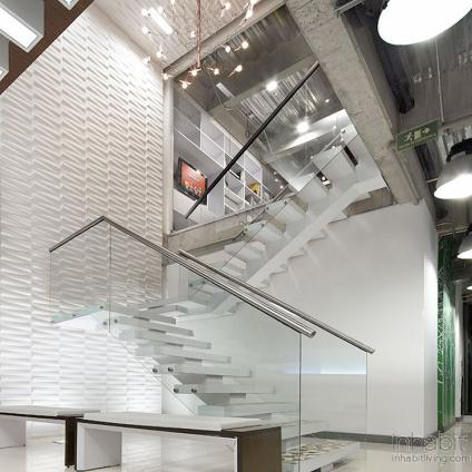 3D embossed wall tiles