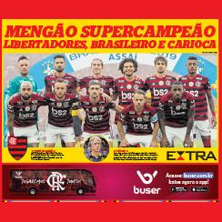 Flamengo champion of Copa Libertadores and Campeonato Brasileiro