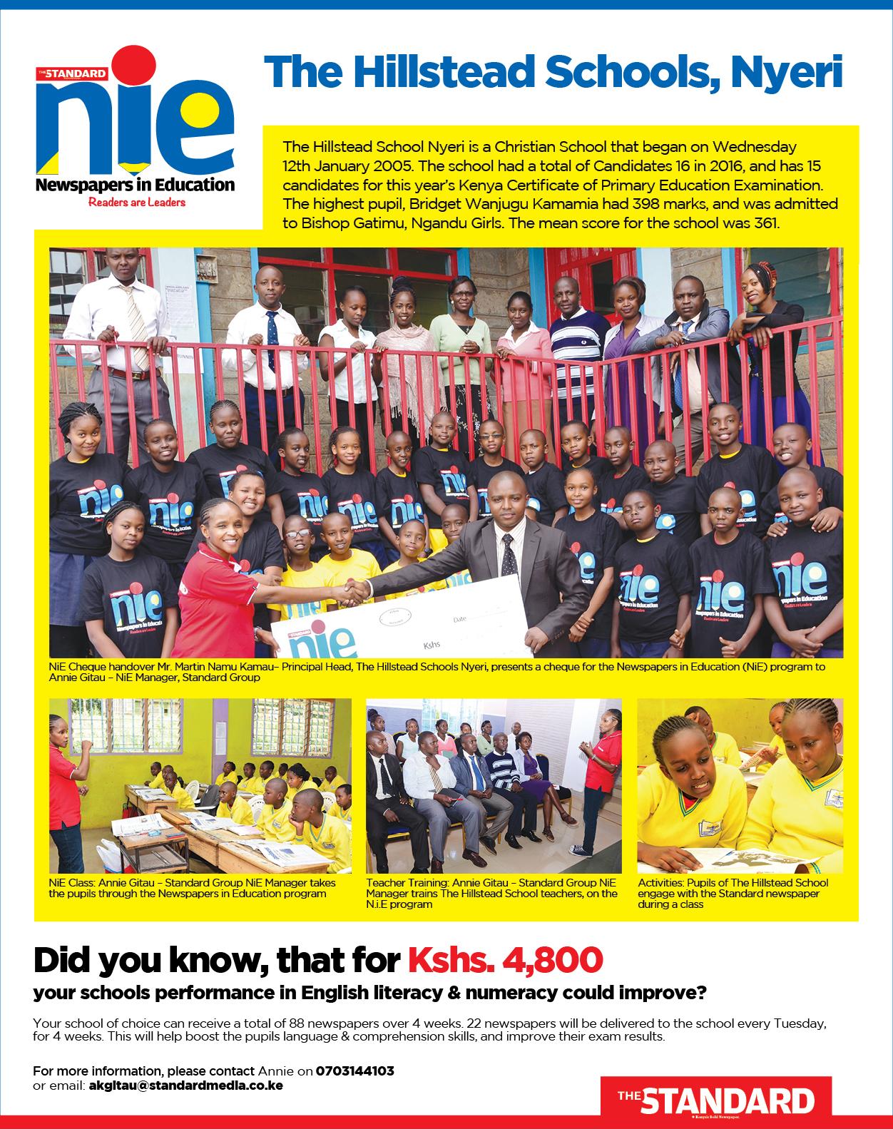 Newspapers-in-Education program - Standard Newspaper