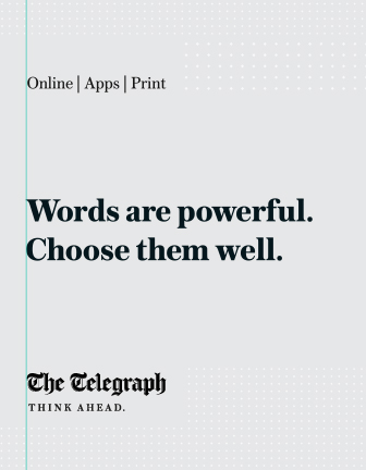 The Telegraph - Words Are Powerful. Choose Them Well.