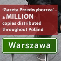 'Gazeta Przedwyborcza' – a million copies distributed throughout Poland