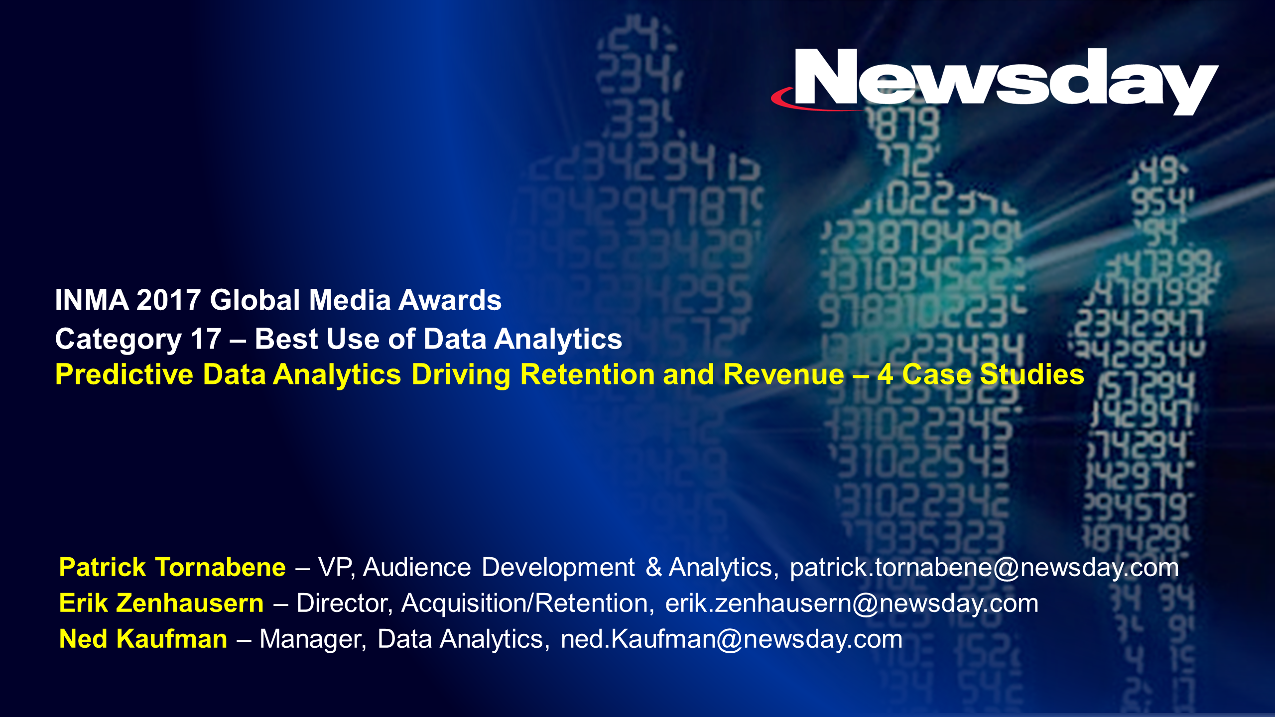 Newsday's Predictive Data Analytics Driving Subscriber Retention