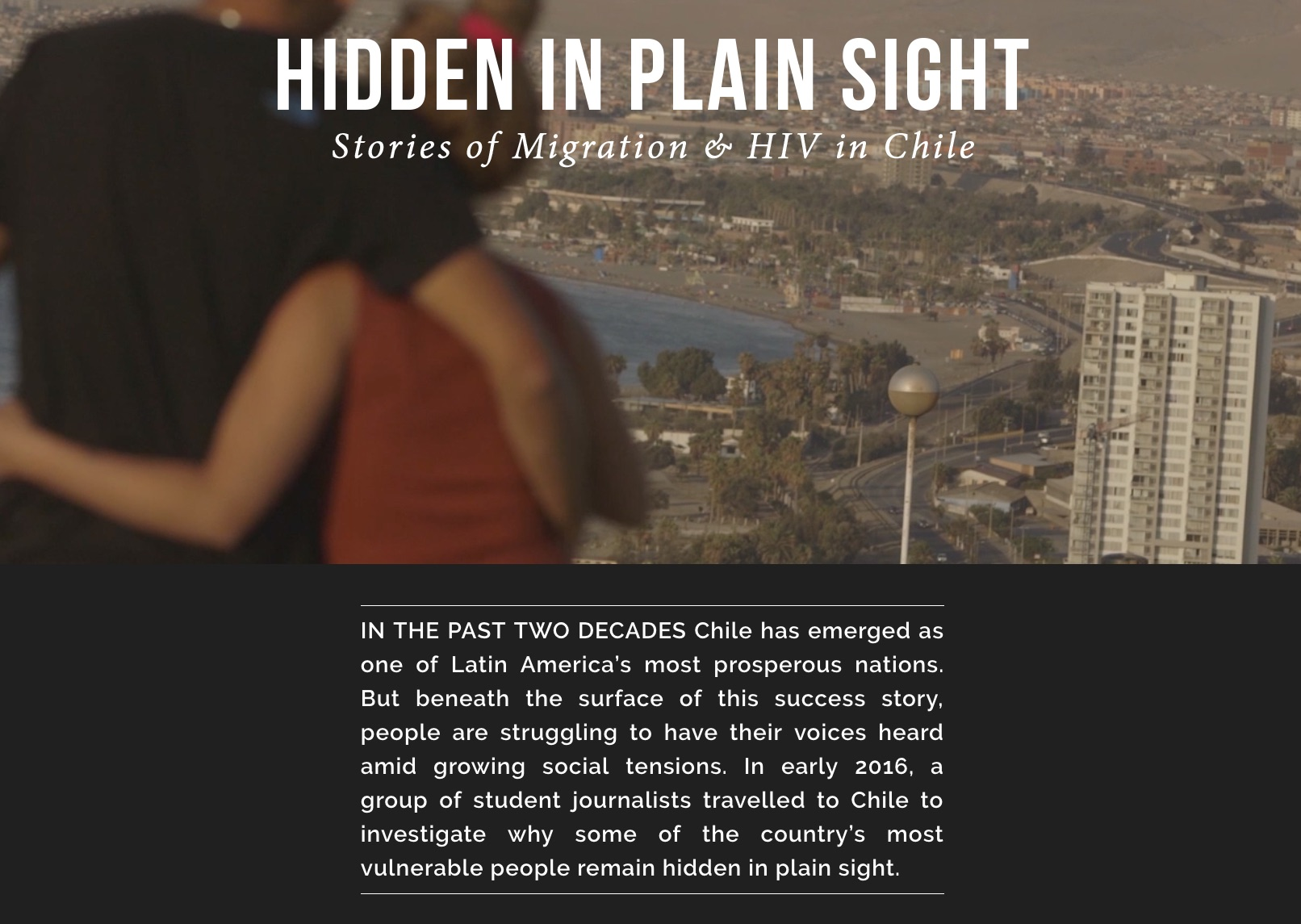 Hidden in Plain Sight: Stories on Migration and HIV in Chile