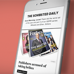 The Schibsted Daily - Foster Innovation through information