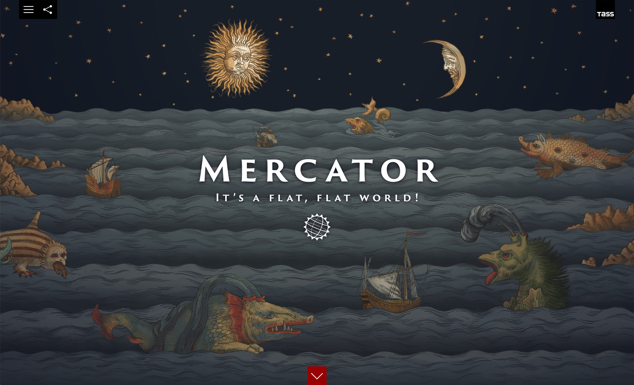 Mercator. It's a Flat, Flat World