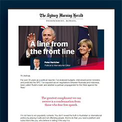 The Sydney Morning Herald & The Age - A Line From The Front Line