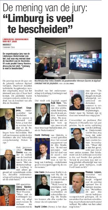 Award Show 'Limburgs Ondernemer van het Jaar'