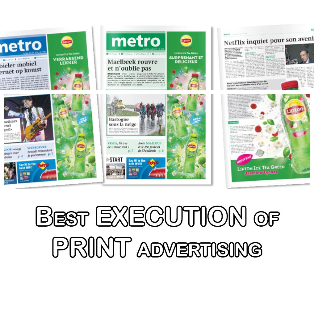 Metro Belgium's Creativity with Lipton