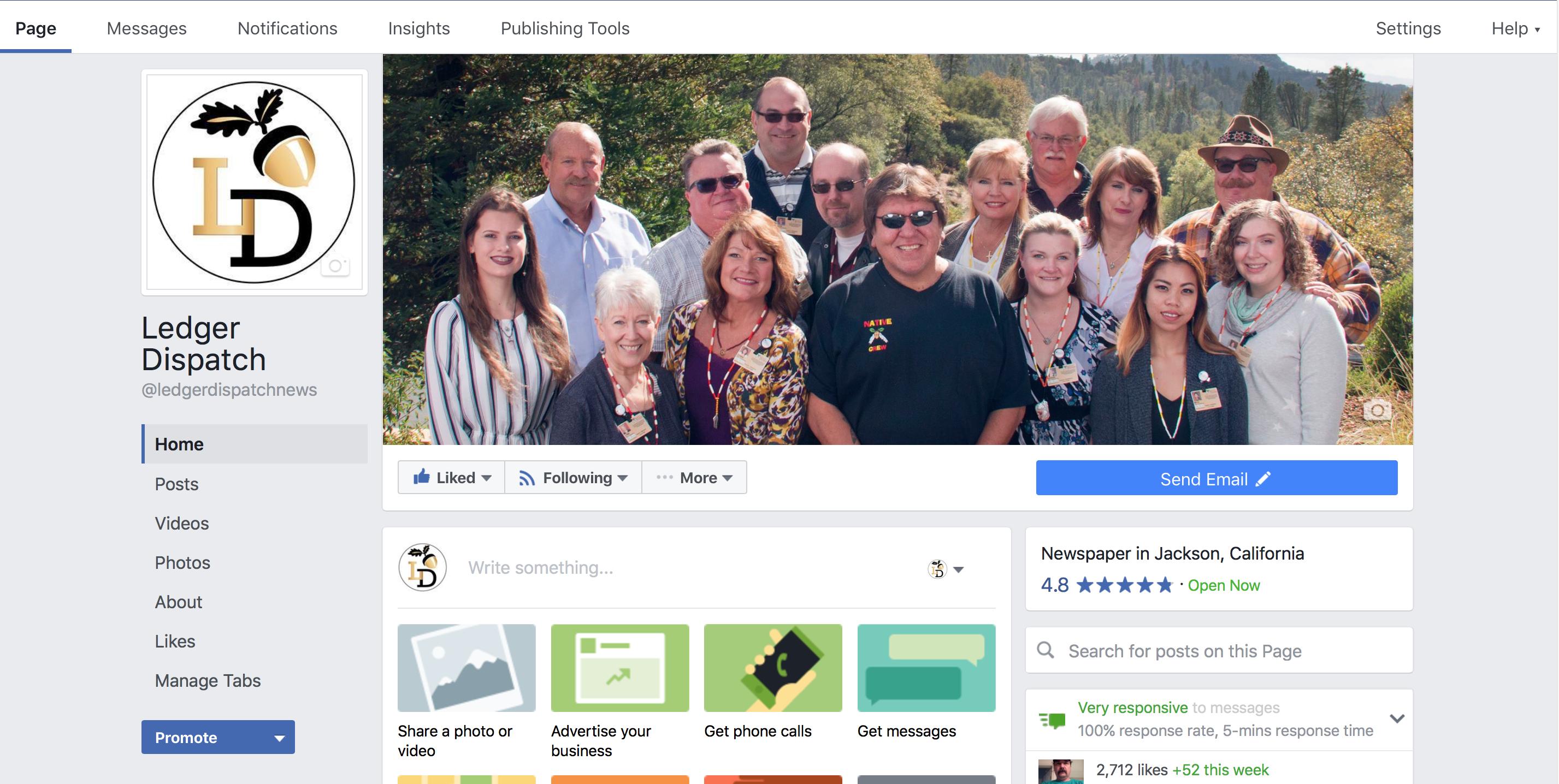 Ledger Dispatch plus Facebook equals Instant Engagement