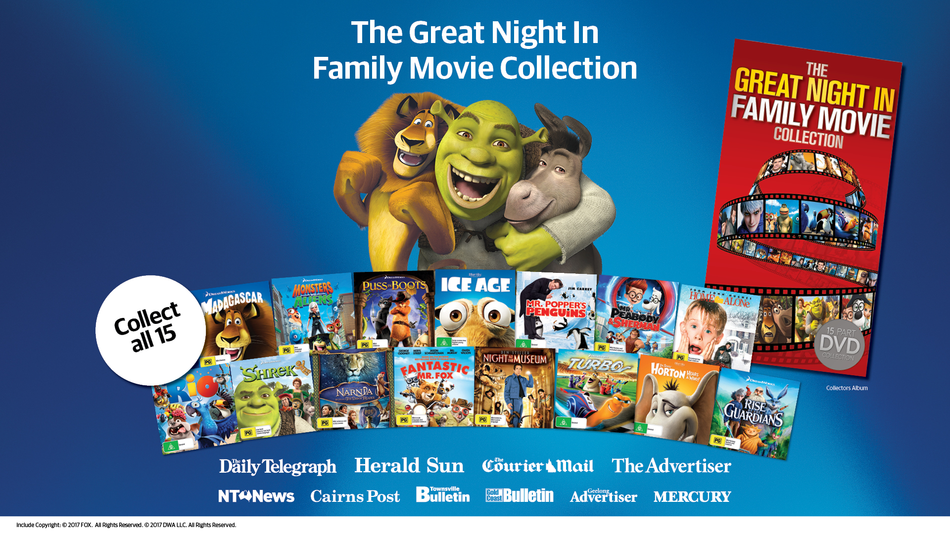 Great Night In Family Movie Collection - PR launch