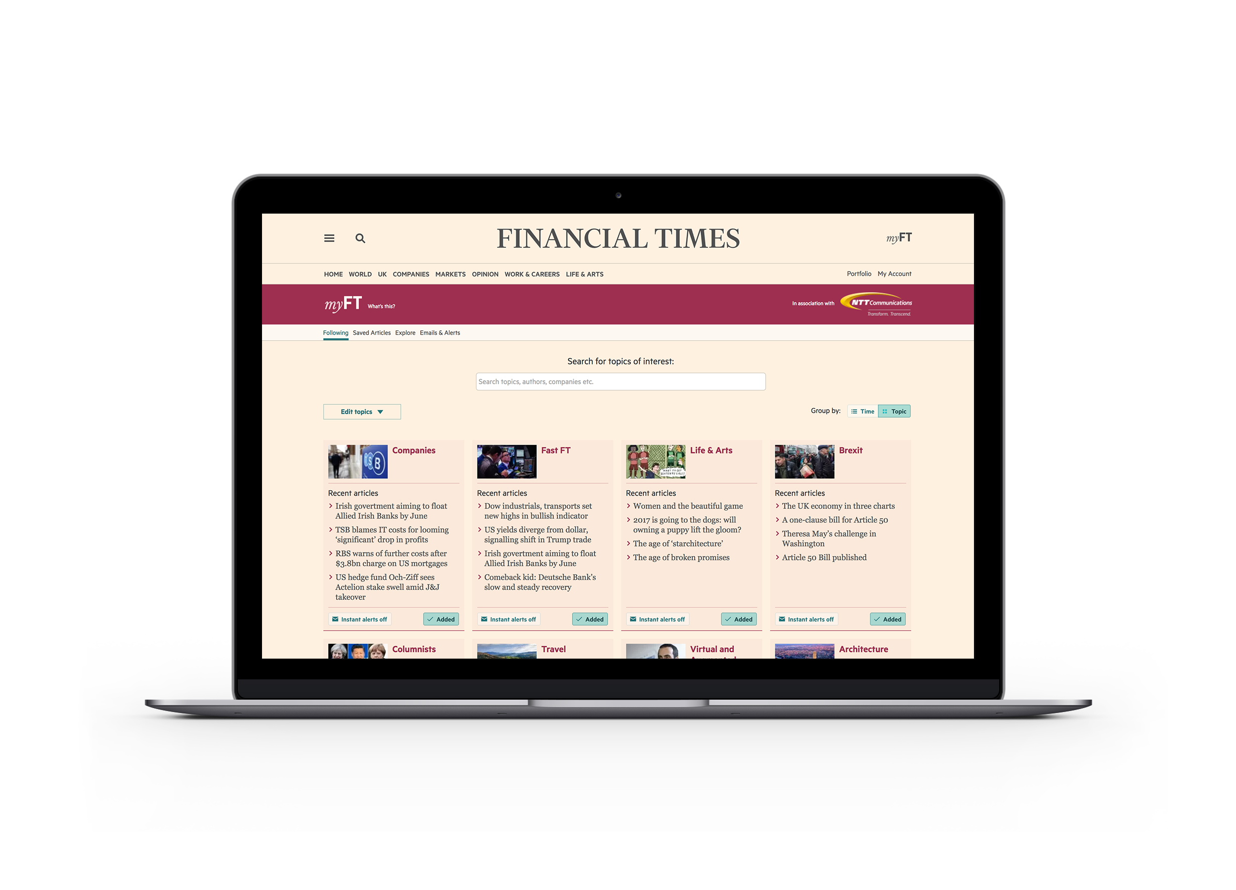 myFT: the most relevant information to you from the FT