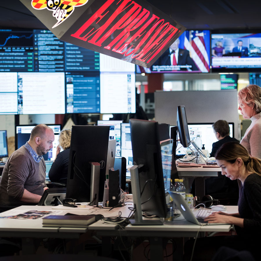 Integrating commercial editors on Expressen's news desk