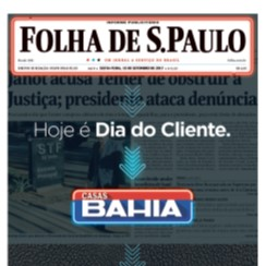 The reinvention of print - Casas Bahia Brazilian retailer and Folha de S.Paulo