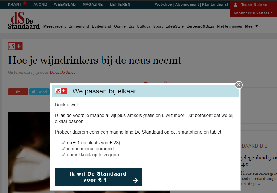 The Porous Paywall of De Standaard
